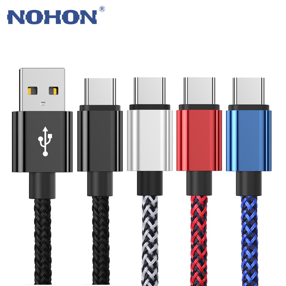 2M 3M USB Type C Data Charger Cable For Samsung S8 S9 Plus Huawei Xiaomi mi 9 Redmi Note 8 USBC Long Short Cord Fast Charge Wire(China)