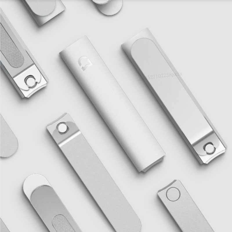Xiaomi Mijia ステンレスステンレスネイルクリッパー抗スプラッシュカバートリマーペディキュアケア爪バリカンプロファイル