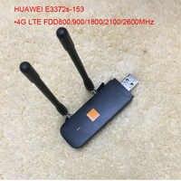 Nowy oryginalny odblokuj HUAWEI E3372 E3372s-153 150Mbps 4G LTE modem usb podwójna antena obsługa portów wszystkie pasma z crc9antena