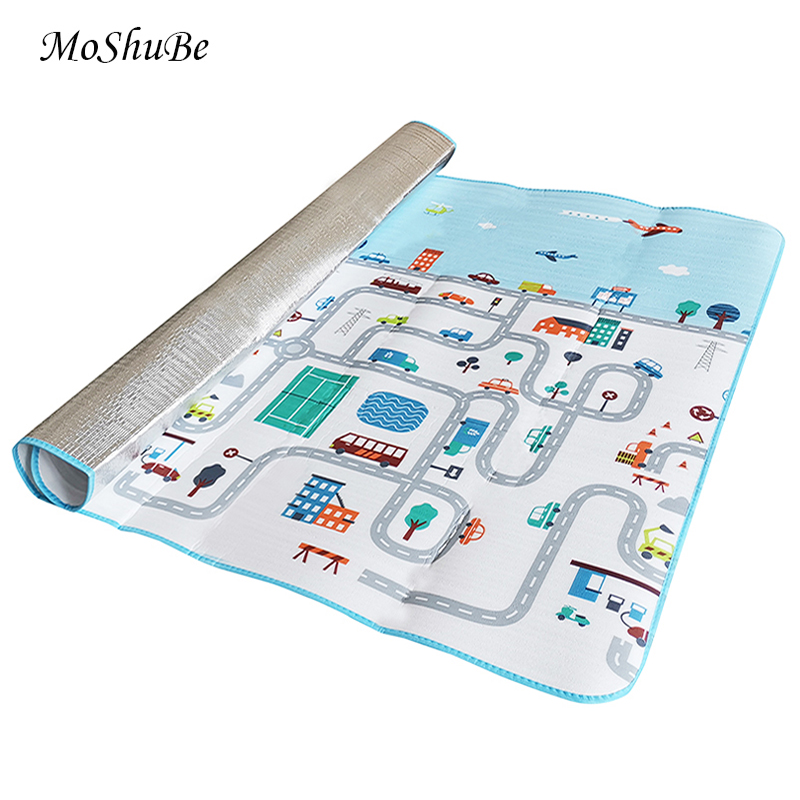 Kids Carpet 2*1.8M Road Game Rug Soft Baby Play Mats Waterproof Children Crawling Pad Picnic Blanket Playmat Toys Gym Foam EVA