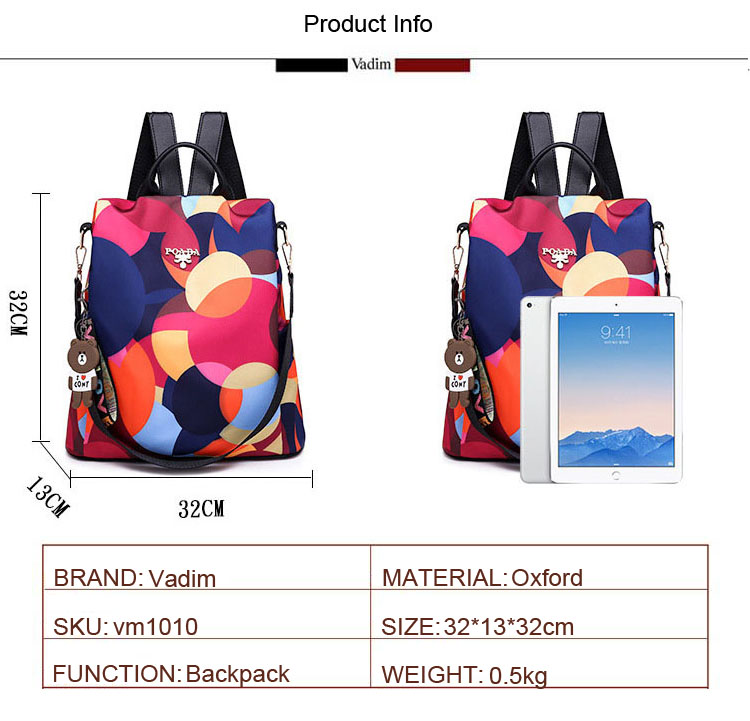 H10dcdfb5e49d480fb779a7c44437c593a - Vadim New Fashion Women Backpacks  Waterproof Oxford Backpack Female Anti Theft Bagpacks School Bags for Girls Mochila Mujer