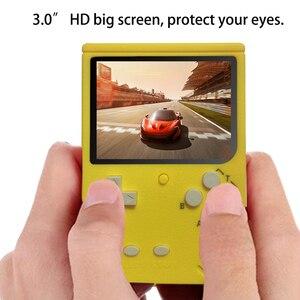 Image 1 - O mini portátil retro consola de jogos handheld 64 bit 3.0 Polegada cores lcd caçoa o jogador do jogo da cor construído em 1000 jogos com cartão do sd