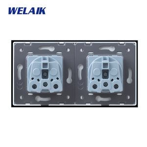 Image 5 - WELAIK Manufacturer 2Frame French Standard Power Socket Tempering Glass Panel EU Wall Socket Wall Outlet 16A AC110~250V A28F8FW