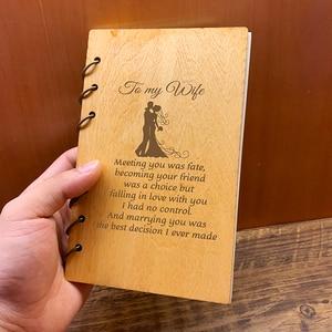 Image 3 - Custom Gepersonaliseerde Hout Notebook Huismus voor Planner journal Dagboek Verjaardag Kerst Anniversary Gifts Notities Nemen Schetsboek