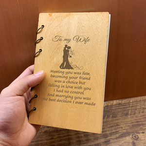 Image 3 - Custom Personalised Wood Notebook Homebody for Planner journal Diary Birthday Christmas Anniversary Gifts Take Notes Sketchbook