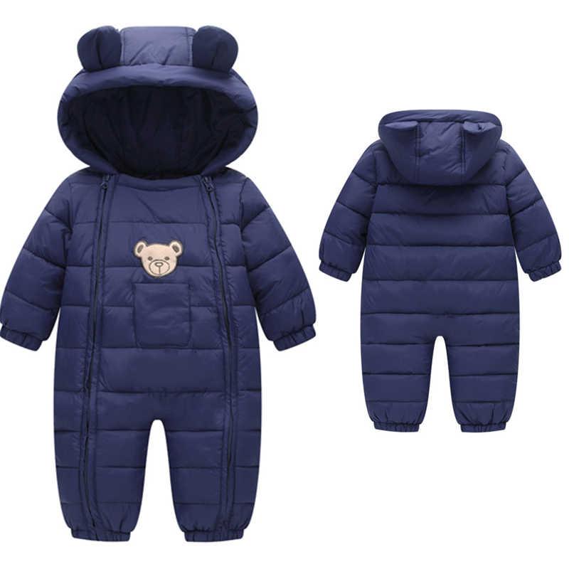 Newborn Baby Clothes Autumn Winter Jumpsuit Cotton Warm Snowsuit Boys For Girls Hooded Overalls For Children Unisex Baby Romper