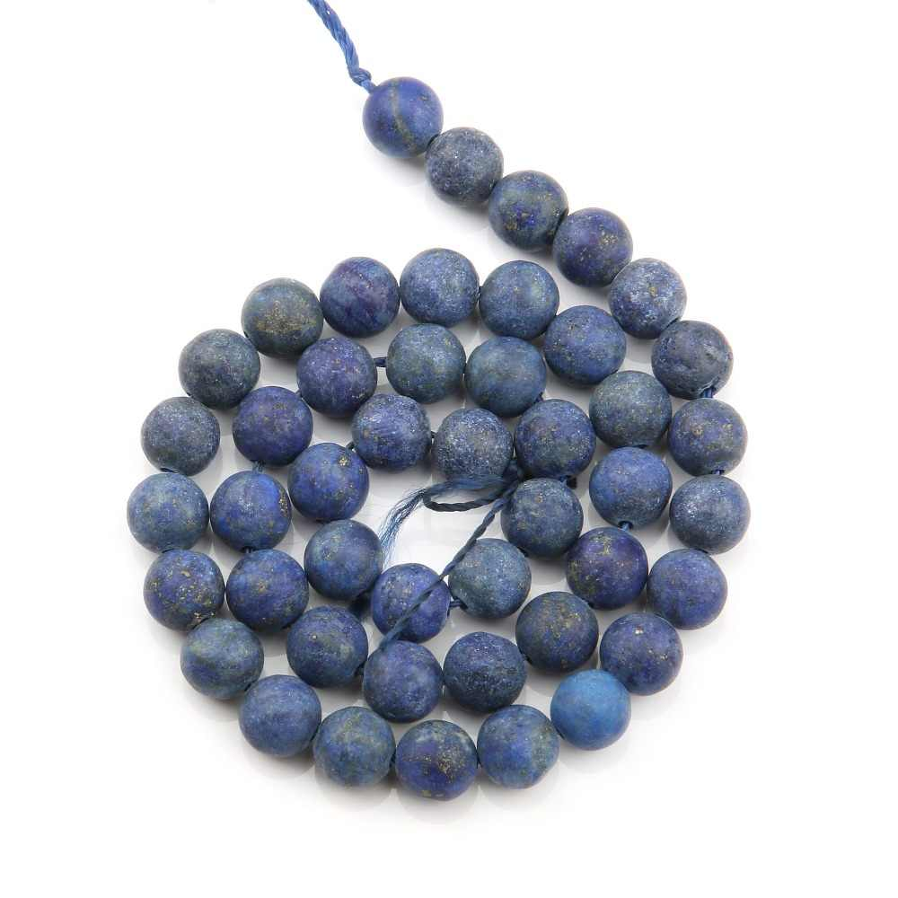 Matte Lapis Lazuli Natural Stone Beads Round Loose Beads Ball 4/6/8/10/12 Mm Fashion Jewelry Bracelet Making Accessories DIY