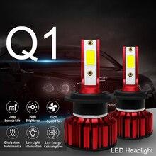 LSlight الصمام العلوي H4 H7 9005 9006 H8 H11 Hb2 Hb3 Hb4 لمبة LED فار Reflektor أمبير الجليد مصباح 6500 k 55 w 9600lm 12 v سيارة ضوء