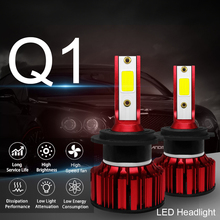 LSlight LED ヘッドライト H4 H7 9005 9006 H8 H11 Hb2 Hb3 Hb4 電球 LED ファール Reflektor アンペア氷のランプ 6500 18k 55 ワット 9600lm 12 V 車のライト