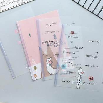 1pcs A4 Transparent Document Holder Student Insert File Bag Spine Bars Storage File Folder Binder Office Korea Stationery 1
