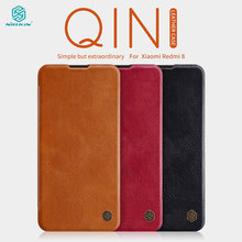 Caes for Xiaomi Redmi 8A 8 Redmi8 Global Version Nillkin Qin Series PU Leather Flip Cover Redmi 8 Case