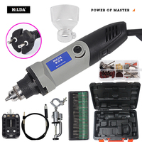 HILDA 400W Mini Electric Drill Engraver for dremel Rotary Tool Mini Drill for dremel rotary tool accessories Power tools