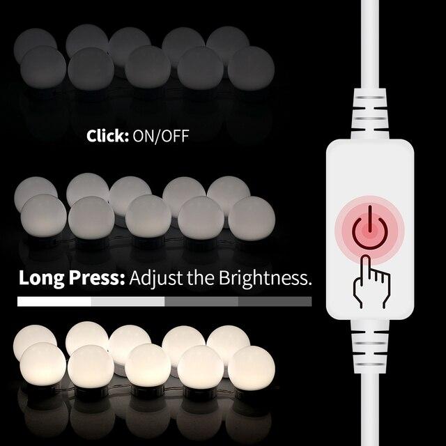 Фото светодиодный зеркальный светильник 12 в туалетный столик светодиодный