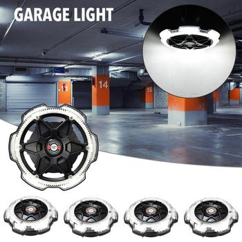 120W Led Garage Light 5-head Ceiling Super Bright Industrial Lighting E26/E27 High Bay Lamp For Workshop Warehouse 12000lm
