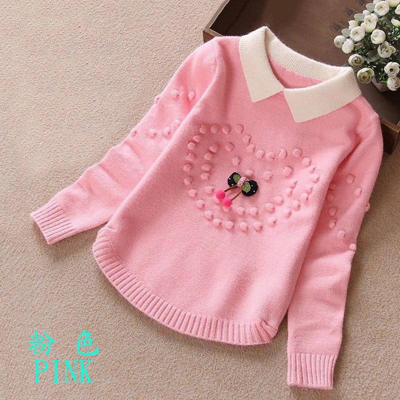 2019 Autumn Childrenswear Women's Large CHILDREN'S Sweater Core-Spun Yarn Korean-style Long Sleeve Sweater