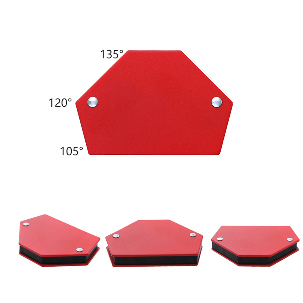Tools : 6pcs Professional Without Switch Red Super Magnetic Soldering Positioner Welding Locator Mini Triangle Home Fixed Angle Metal