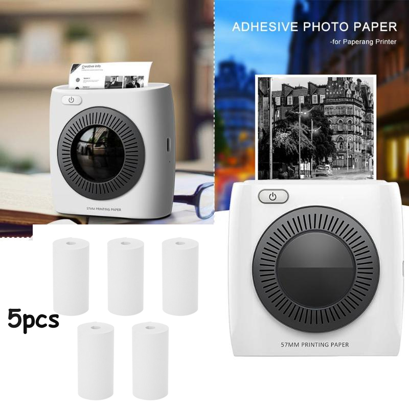 5-Rolls/set 57*30mm Thermal Printing Paper 10 Meters Printable Sticker For Paperang & Peripage Mini Printer Accessories