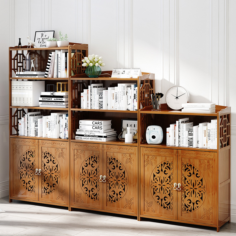 Living Room Furniture Living Room Cabinets Chinese-style Bamboo Bookcase