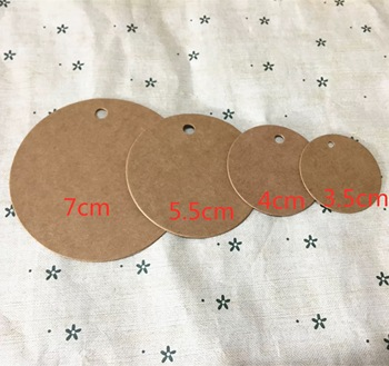 100pcs/lot Brown Kraft Paper Tags Round Luggage Note Wedding Cards Blank Craft Paper Gift Tags brown benjamin thompson count rumford paper