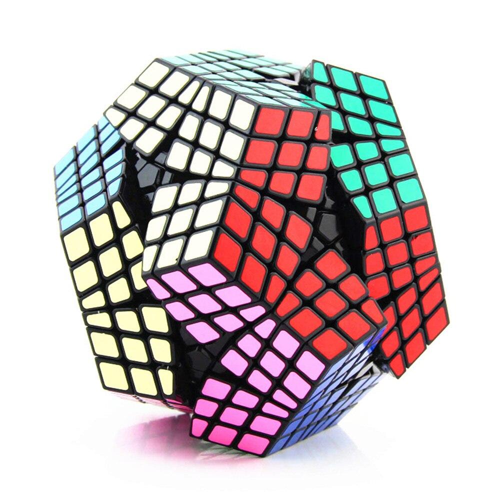 ShengShou 6x6x6 Megaminx Cube magique Megaminx coffre-fort ABS Ultra-lisse 6x6 apprentissage anti-stress vitesse Puzzle Cube enfants jouets cadeau