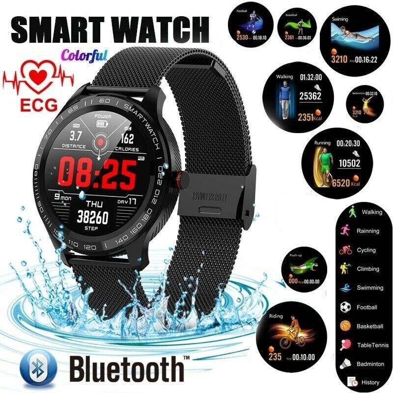 L8 Smart Watch Wristband Sports Fitness ECG Blood Oxygen Pressure Heart Rate Call Message Reminder Pedometer L9 Smart Watch