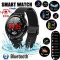 L8 relógio inteligente pulseira esportes fitness ecg pressão de oxigênio no sangue e freqüência cardíaca chamada mensagem lembrete pedômetro l9 relógio inteligente