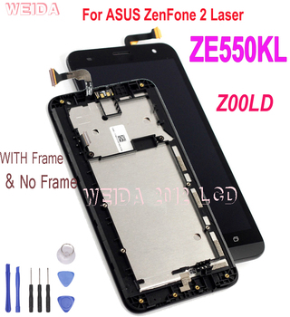 Original 5.5 For ASUS ZenFone 2 Laser ZE550KL Z00LD LCD Display Touch Screen Digitizer Assembly with Frame Replacement original 5 2 for asus zenfone 3 max zc520tl x008d lcd display touch screen digitizer assembly with frame for asus zc520tl lcd
