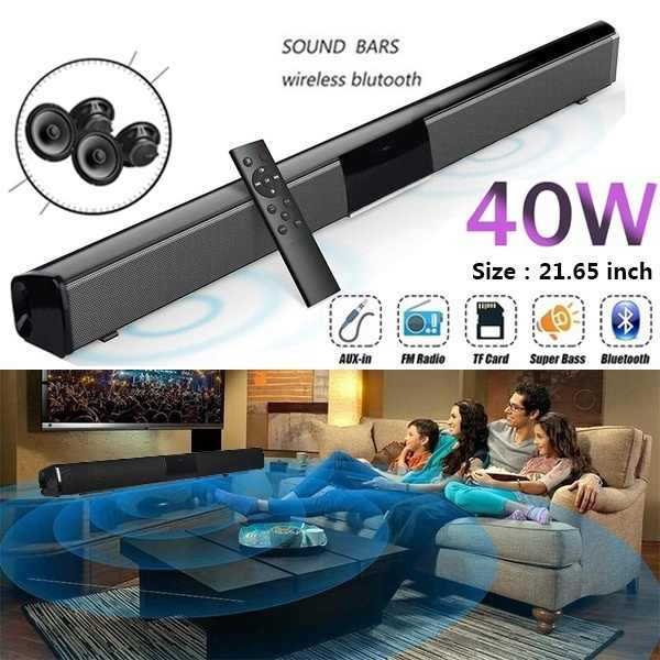 2020 nuovo Senza Fili di Bluetooth Soundbar Altoparlante Stereo Home Theater TV Sound Bar Subwoofer Giocatore di Musica