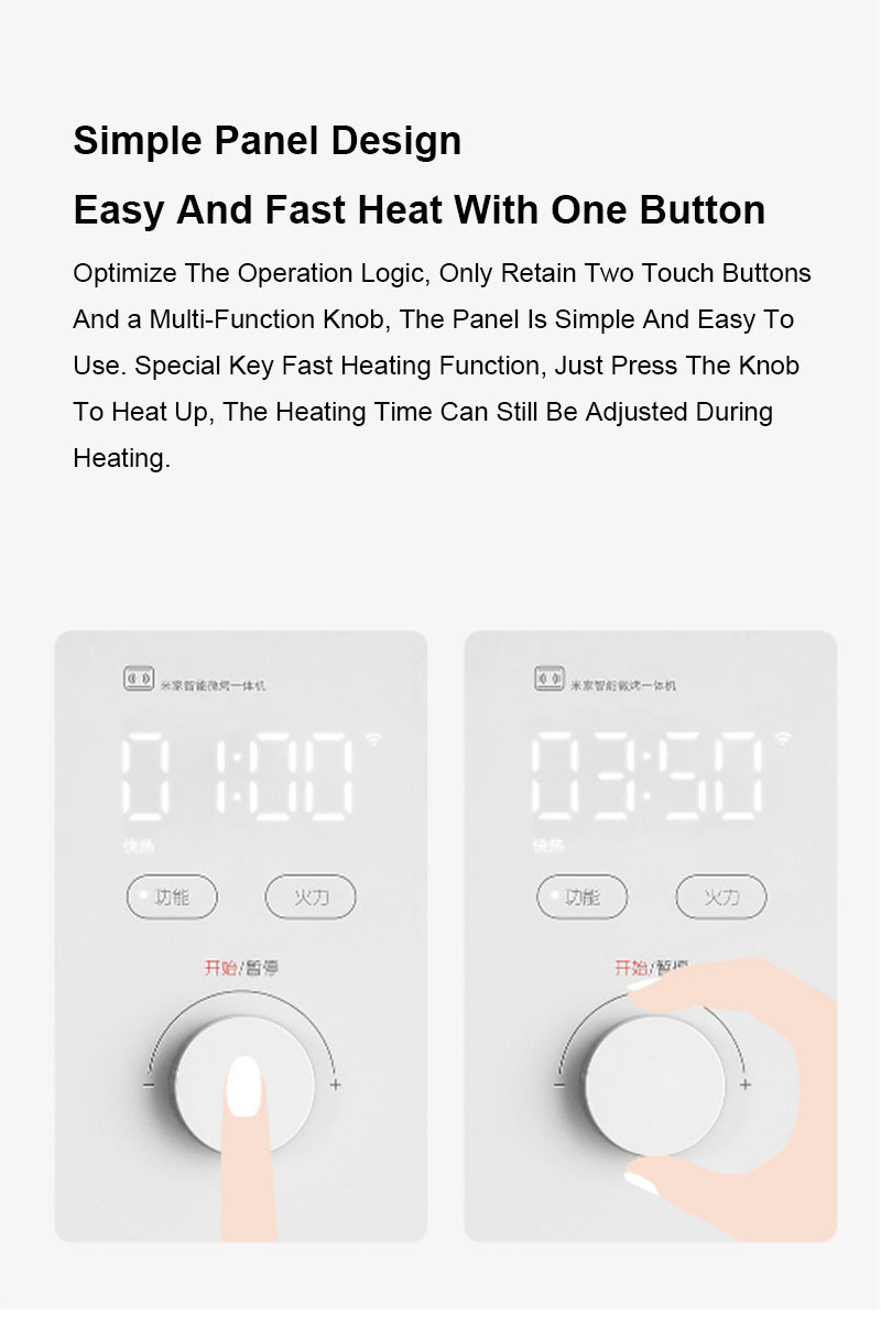 Estoque xiaomi mijia inteligente micro-máquina de cozimento