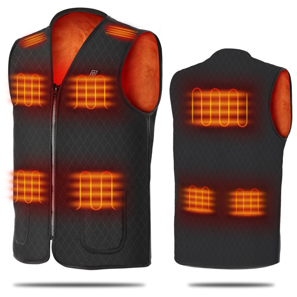 Жилет с подогревом зимняя теплая куртка жилет с подогревом зарядка через USB жилет с подогревом умный жилет с электрическим подогревом одежд...