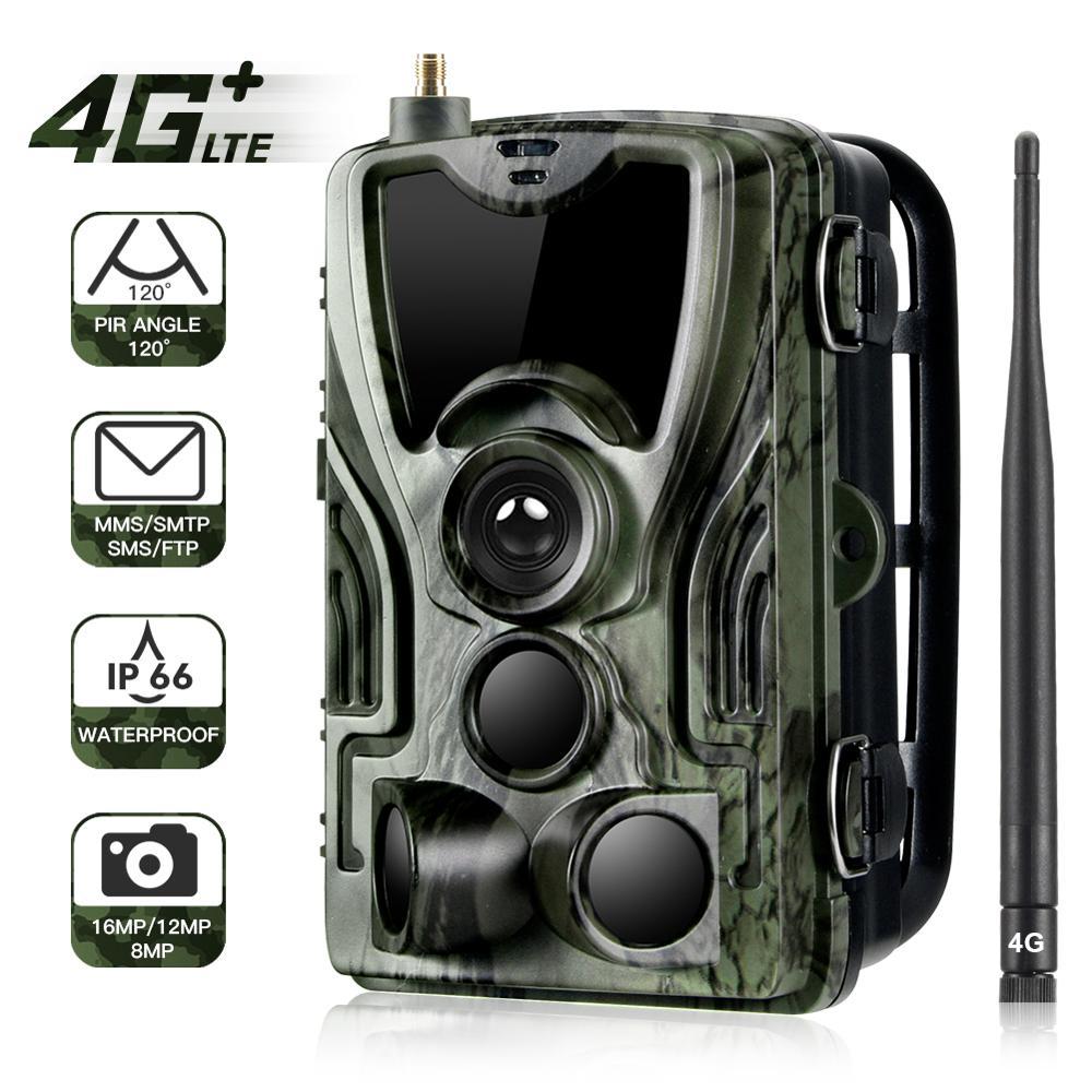 HC-801LTE 4G Multifunctional Waterproof Hunting Camera 16MP 64GB Tracking Camera IP65 Trap 0.3 MMS/SMS/SMTP/FTP Field Camera