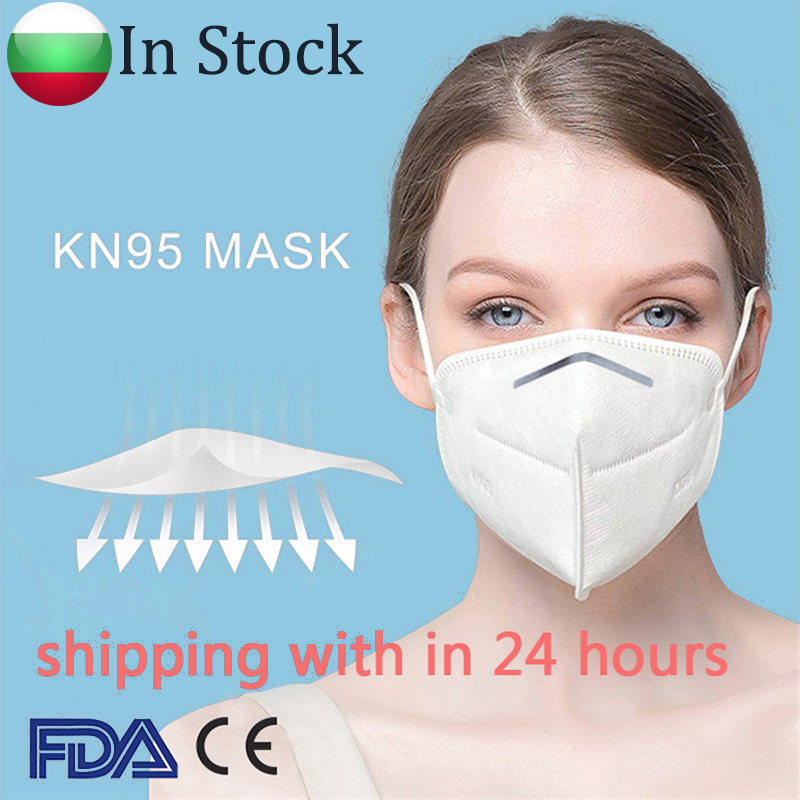 KN95 Mask Respirator Protective Safety 3D Disposable Face Mask 95% Filtration Dust Particulate Pollution N95 Protection In Stock