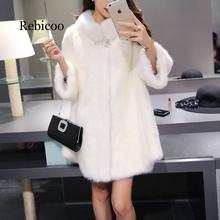 Faux Fur Coat Winter 2019 New Long Jacket Women Soft Fake Suede Solid Outerwear For Ladies Female Coats Femme