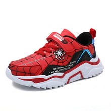 Children Sneakers Shoes Spiderman Waterproof Leather Breathable Fashion Casual