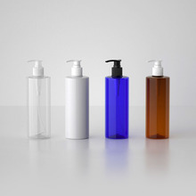 White Clear Amber 500ML 20pcs PET Lotion Pump Bottle,Plastic Cosmetic Container,Empty Shampoo Sub-bottling,Essential Oil Bottles