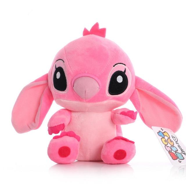 Disney Cartoon Blue Pink Stitch Plush Dolls Anime Toys Lilo and Stitch 20CM Stich Plush Stuffed Toys Christmas Gifts for Kids 6