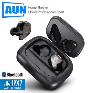 Image 1 - AUN Bluetooth 5.0 20 שעות טעינת תיבת אלחוטי אוזניות 3D סטריאו אוזניות קול בקרת רעש ביטול המשחקים אוזניות חדר כושר
