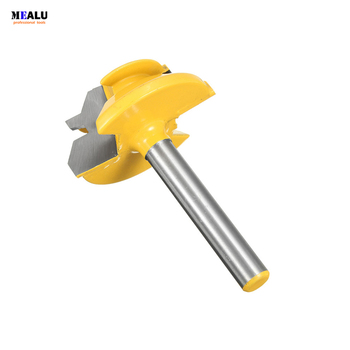 1PC Small Lock Miter Router Bit Anti-kickback 45 degree 1/2'' Stock 1/2 inch Shank Tenon Cutter for Woodworking Tools - discount item  6% OFF Woodworking Machinery