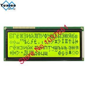 Image 4 - big large character 2004 20*4  Russian cyrillic Font lcd display panel  BLUE green screen 5V 146*62.5mm LC2042 1pcs free ship