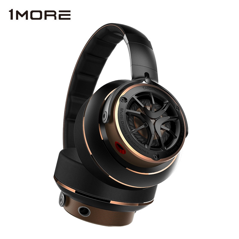 1MORE H1707 Triple Driver Over-ear Wired Headphone Hifi Noise Isolating on-ear Headphones big Headset for phone, Foldable Design