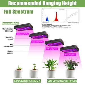 Image 5 - Phlizon LED לגדול אור 600 W 900 W 1200 W ספקטרום מלא כפול מתג לחממה הידרופוני צמחים מקורה וועג ופרח