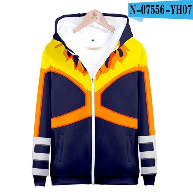My hero academia hoodies izuku midoriya shouto todoroki boku no hero academia Cosplay Costume Sweatshirt boys girl Zipper Jacket 23