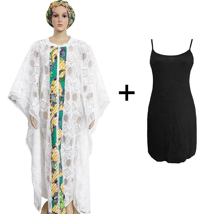 2020 New Summer Elegent African Women O-neck Lace Plus Size Long Dress