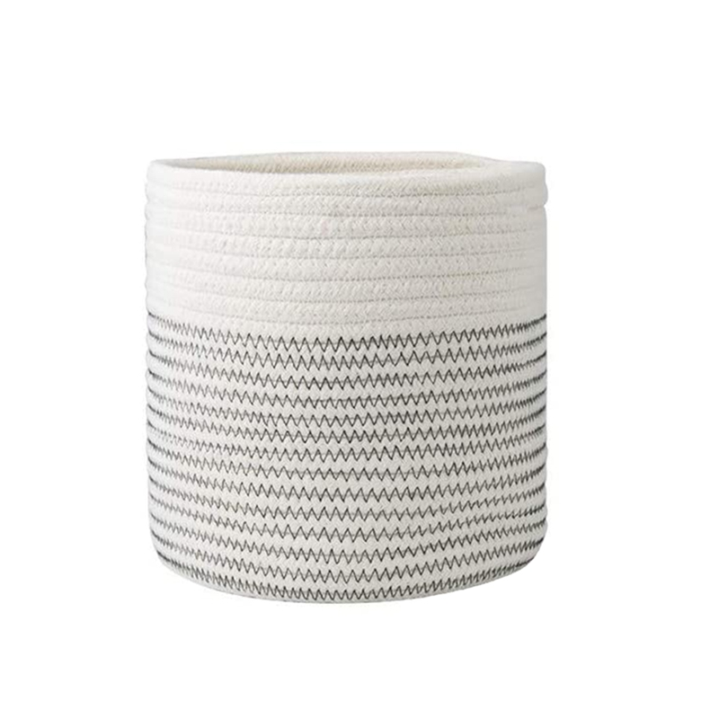 11 Inch Cotton Rope Plant Basket,for 9 Inch-10 Inch Planter,Multifunctional Basket Choice for Home Decor and Storage