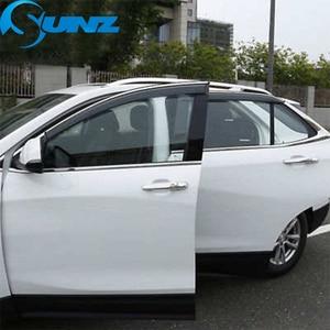 Image 4 - Side Window Deflectors For Chevrolet EQUINOX  2017 2018  Window Visor Vent Shades Sun Rain Deflector Guard SUNZ