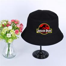 Jurassic Park Summer hat men's Panama bucket cap 9 colors Jurassic Park of the design flat visor fisherman hat wide-brimmed hat босоножки на танкетке с принтом в японском стиле