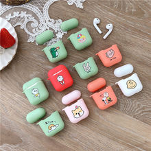 Cute Cartoon Case For Apple Airpods Cover Silicone Headphone Box Air pods headset charing box Bag Capa