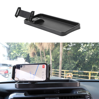 Car Styling Center Console Tablet stander Bracket Holder for Toyota 4Runner 2010+ ABS black Interior Accessories