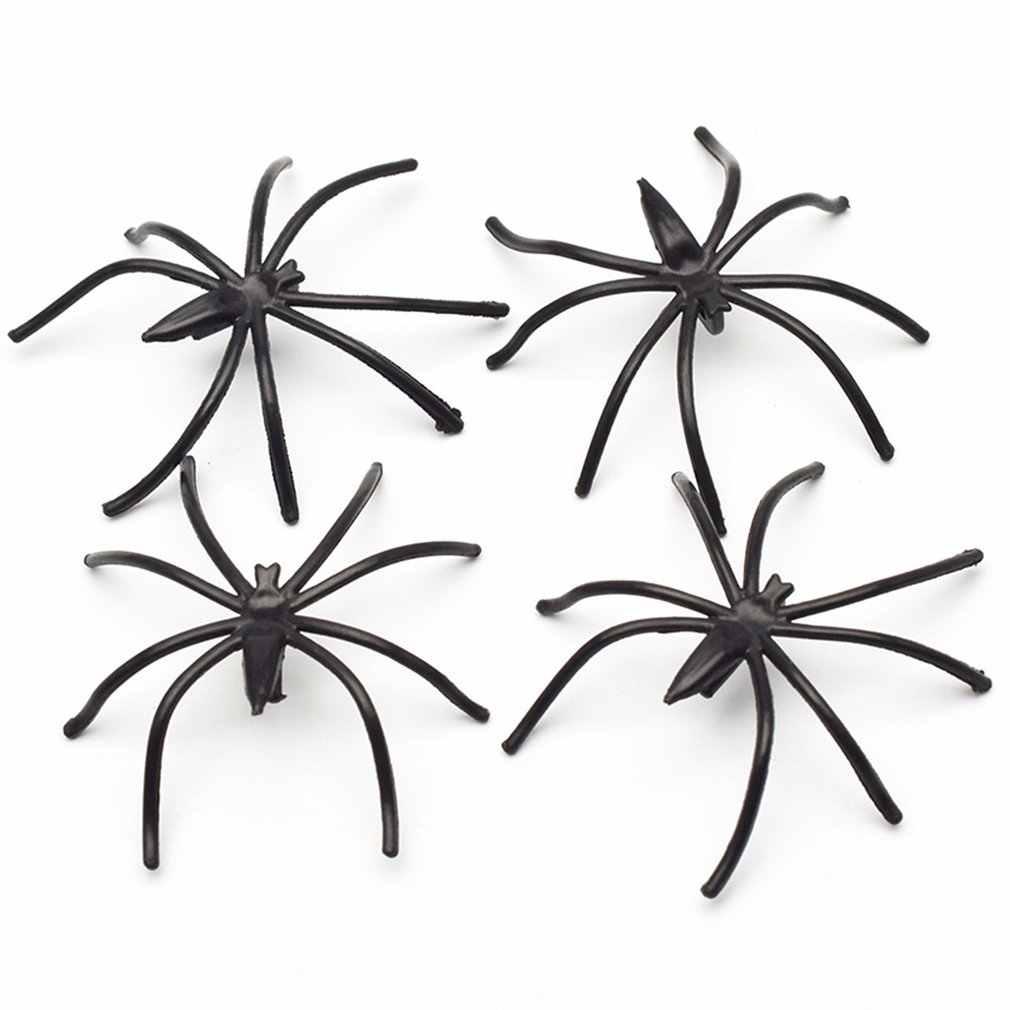 Simulasi Spider Toy Theater Bunga Spider Hitam Horor Menakutkan Spider Model Laba-laba Palsu Seluruh Orang Mainan