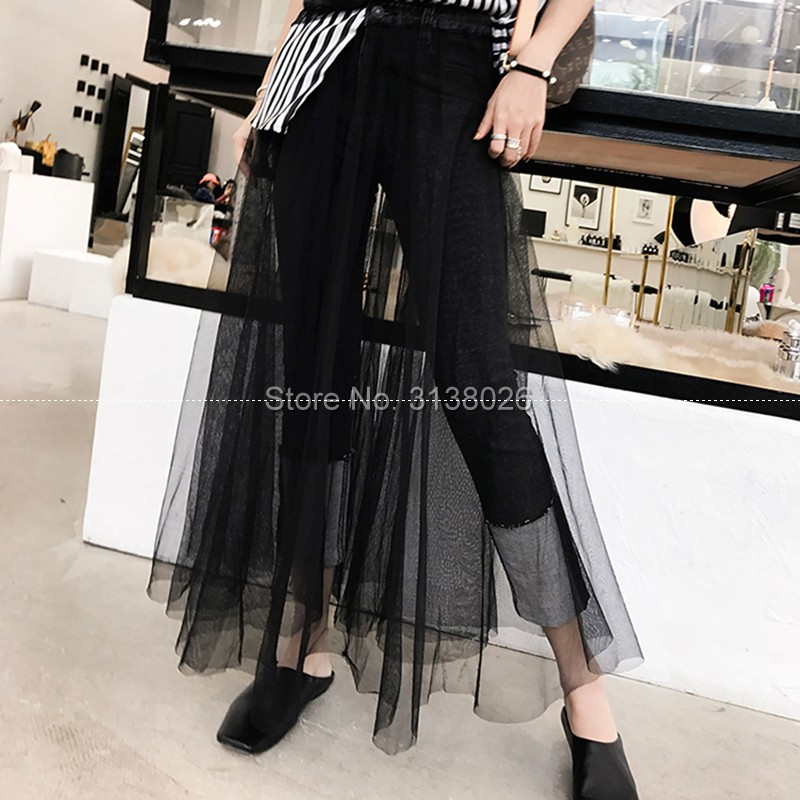 XXXL Transparent length Skirts for Women Elegant High Waist Pleated Tulle Skirt Ball Gown lace Clothing customization